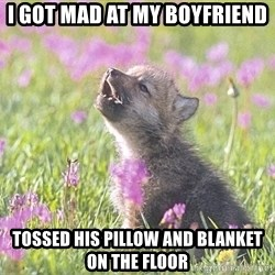 Baby Insanity Wolf - I got mad at my Boyfriend Tossed his pillow and blanket on the floor