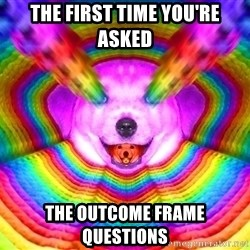 Final Advice Dog - The first time you're asked  The outcome frame questions