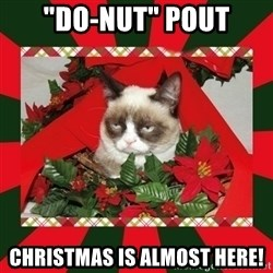 """GRUMPY CAT ON CHRISTMAS - """"Do-Nut"""" pout Christmas is almost here!"""