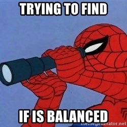 Spiderman Lunar Eclipse - Trying to find if is balanced