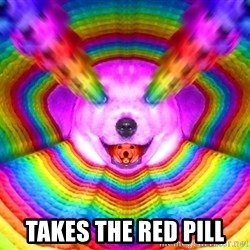 Final Advice Dog -  Takes the red pill