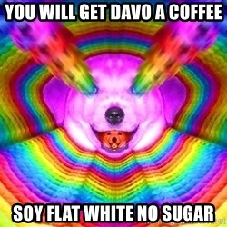 Final Advice Dog - You will get Davo a Coffee Soy Flat White No Sugar