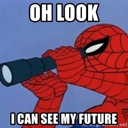 Spiderman Lunar Eclipse - Oh look I can see my future
