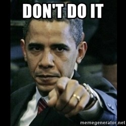 obama pointing - don't do it