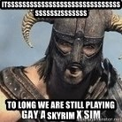 Skyrim Meme Generator - Itsssssssssssssssssssssssssssssssssssszsssssss To long we are still playing skyrim