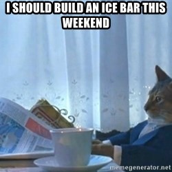 Sophisticated Cat - I should build an ice bar this weekend