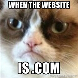angry cat asshole - when the website  is .com
