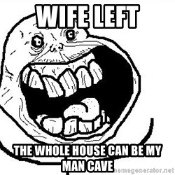 Happy Forever Alone - Wife left The whole house can be my man cave