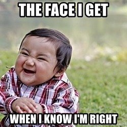 Evil Asian Baby - The face I get when I know I'm right