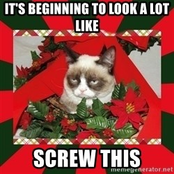 GRUMPY CAT ON CHRISTMAS - it's beginning to look a lot like screw this