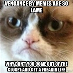 angry cat asshole - vengance by memes are so lame why don't you come out of the closet and get a freakin life