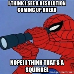 Spiderman Lunar Eclipse - I think I see a resolution coming up ahead Nope! I think that's a squirrel