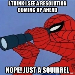 Spiderman Lunar Eclipse - I think I see a resolution coming up ahead Nope! Just a squirrel