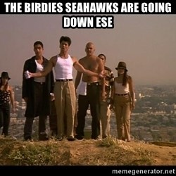 Blood in blood out - The Birdies Seahawks are going down Ese