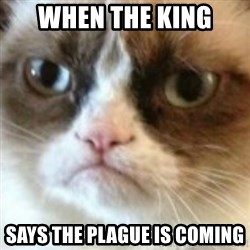 angry cat asshole - when the king  says the plague is coming