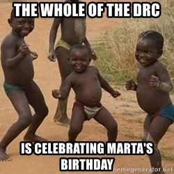 Dancing african boy - THE WHOLE OF THE DRC IS CELEBRATING MARTA'S BIRTHDAY