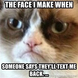 angry cat asshole - The face i make when  Someone says they'll text me back. ...