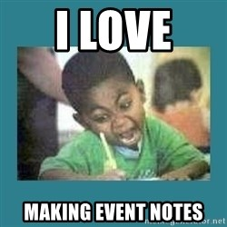 I love coloring kid - I love  making event notes