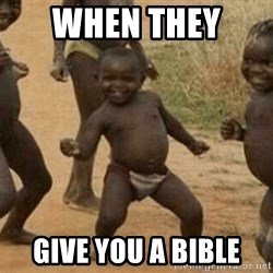 Success African Kid - When they  give you a bible