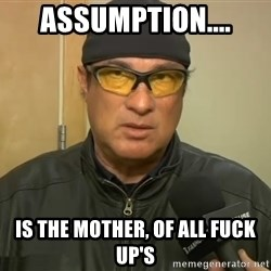 Steven Seagal Mma - Assumption.... Is the Mother, of all FUCK UP'S
