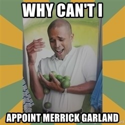 Why can't I hold all these limes - why can't I Appoint Merrick Garland