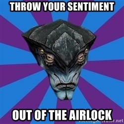 Javik the Prothean - Throw your sentiment out of the airlock