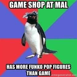 Comic Book Addict Penguin - Game shop at mal has more funko pop figures than game