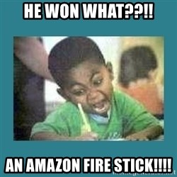 I love coloring kid - He Won what??!! An amazon fire stick!!!!