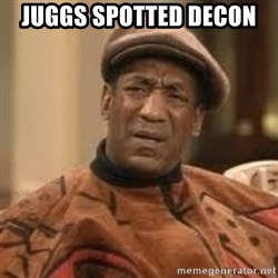 Confused Bill Cosby  - Juggs spotted decon
