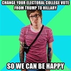 Disingenuous Liberal - Change your electoral college vote from Trump to Hillary So we can be happy