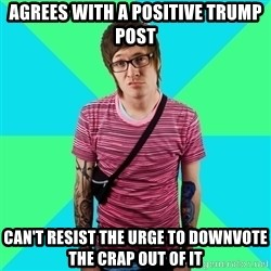 Disingenuous Liberal - Agrees with a positive Trump post Can't resist the urge to downvote the crap out of it