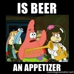 Patrick Star Instrument - IS BEER An appetizer