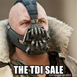 Bane Batman -  the tdi sale