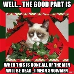 GRUMPY CAT ON CHRISTMAS - Well... the good part is when this is done,all of the men will be dead...I mean snowmen