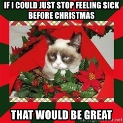 GRUMPY CAT ON CHRISTMAS - If i could just stop feeling sick before christmas That would be great