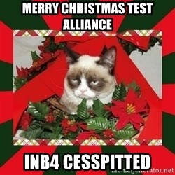 GRUMPY CAT ON CHRISTMAS - Merry Christmas Test Alliance inb4 cesspitted