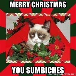 GRUMPY CAT ON CHRISTMAS - Merry Christmas you sumbiches