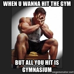 gym problems - When u wanna hit the gym But all you hit is gymnasium