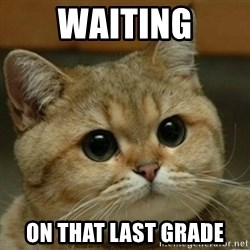 Do you think this is a motherfucking game? - Waiting On that last grade