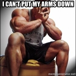 Fit Guy Problems - i can't put my arms down