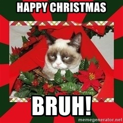 GRUMPY CAT ON CHRISTMAS - Happy christmas Bruh!