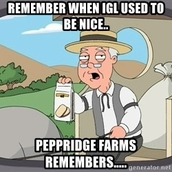 Family Guy Pepperidge Farm - remember when igl used to be nice.. peppridge farms remembers.....