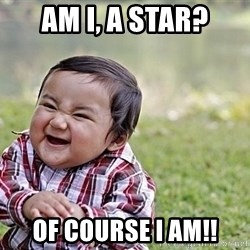 Evil Asian Baby - am I, a star? of course I am!!