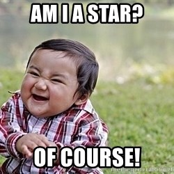Evil Asian Baby - Am I a star? of course!