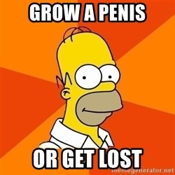 Homer Advice - Grow a penis or get lost
