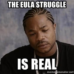 Sad Xzibit - the eula struggle is real