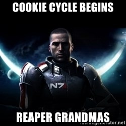 Mass Effect - cookie cycle begins reaper grandmas