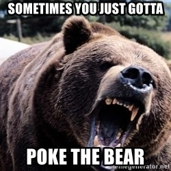 Bear week - Sometimes you just gotta poke the bear