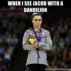Unimpressed McKayla Maroney - when i see jacob with a dandilion