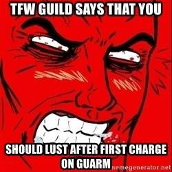 Rage Face - tfw guild says that you should lust after first charge on guarm
